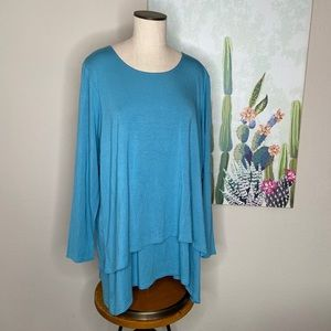 Soft Surroundings Blue Perfect Layers Top